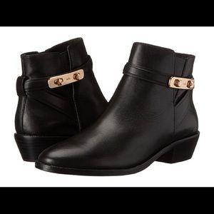 COACH Women's Black Coleen Bootie leather zipper